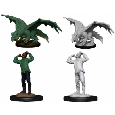 D&D Nolzurs Marvelous Miniatures - Green Dragon Wyrmling...