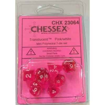 Chessex Polyhedral 7-Die Set - Pink/white