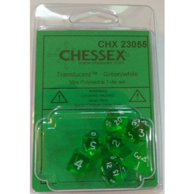 Chessex Polyhedral 7-Die Set - Green/white