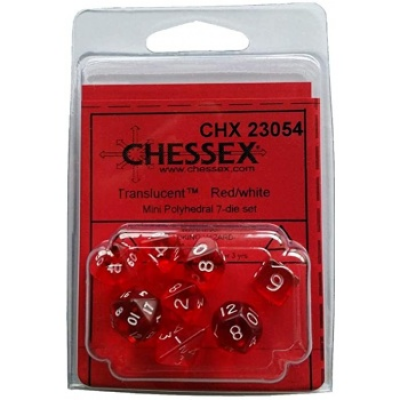 Chessex Polyhedral 7-Die Set - Red/white