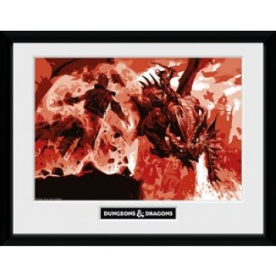 Dungeons & Dragons Red Dragon Collector Print 30x40cm