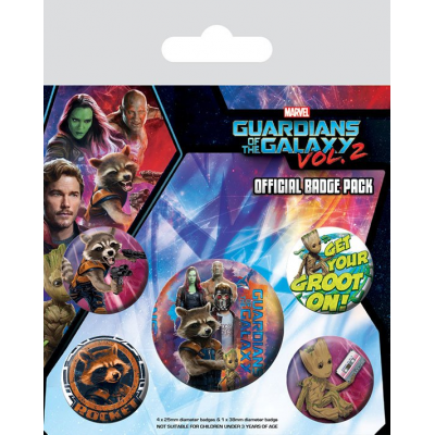 Guardians of the Galaxy Vol. 2 Pin Badges 5-Pack Rocket &...