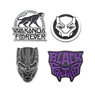 Marvel Ansteck-Pin 4er-Pack Black Panther