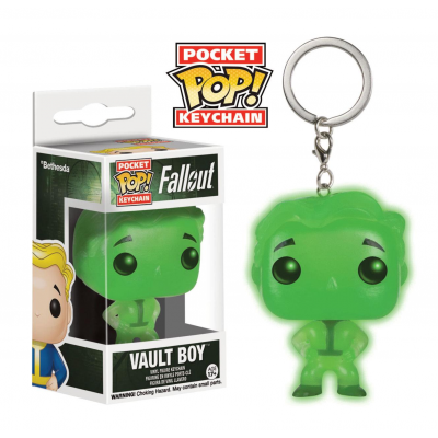 Fallout Pocket POP! Vinyl Keychain Vault Boy Glow In The...