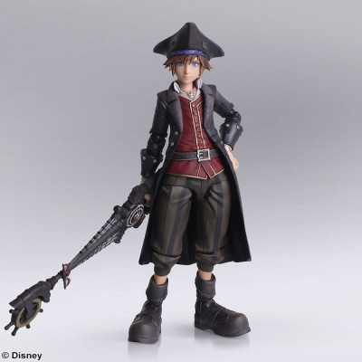 Kingdom Hearts III Bring Arts Action Figure Sora Pirates...
