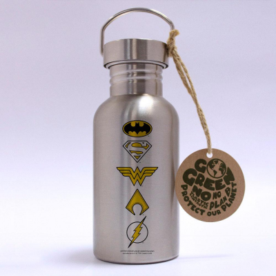 DC Comics Stainless Steel Water Bottle Logos