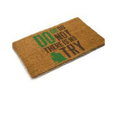 Star Wars Doormat Yoda No Try 50 x 70 cm