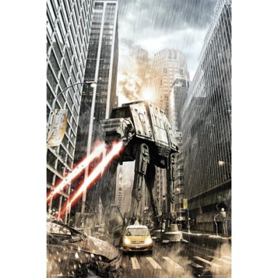 Poster - Manhattan AT-AT Fighter - STAR WARS
