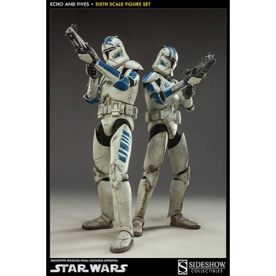 Action Figure - Clone Troopers Echo & Fives 2-Pack 1/6 32...